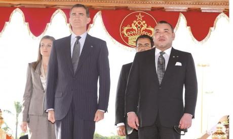 Cérémonie d'accueil officiel à Rabat de S.M. le Roi Felipe VI d'Espagne et la Reine Dona Letizia