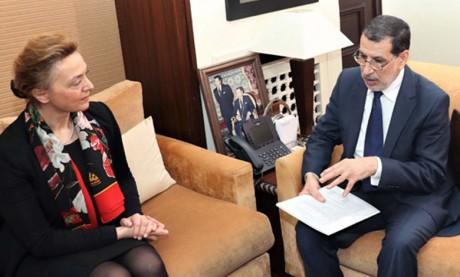 Le Chef du gouvernement s'entretient à Rabat avec  la vice-première ministre croate
