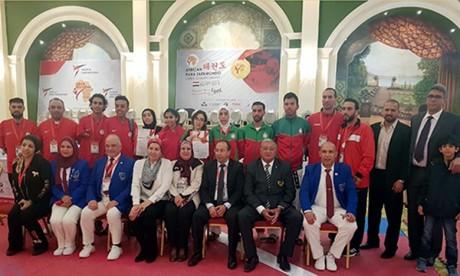 Les médaillés sont Rachid Ismaili Alaoui qui s'est adjugé la médaille d'Or dans la catégorie des plus de 75 Kg/K43, et la championne Naoual Al Arif qui a remporté la médaille de Bronze. Ph : DR