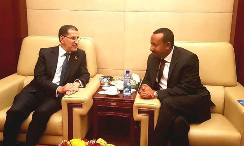 Le Chef du gouvernement s'entretient avec le Premier ministre éthiopien