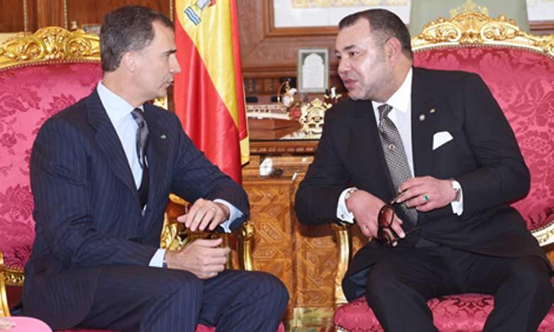 S.M. le Roi Mohammed VI s'entretient avec S.M. le Roi Don Felipe VI d'Espagne