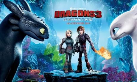 «Dragon 3, le monde caché» s'envole au sommet