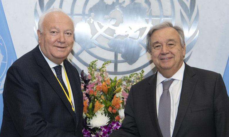 Miguel Ángel Moratinos (à droite) a été nommé par le secrétaire général de l'ONU, Antonio Guterres.                                                                                           Ph. DR