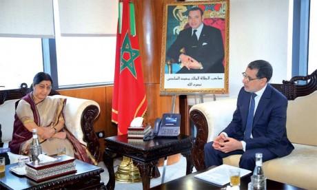 La ministre indienne des Affaires étrangères souligne le leadership  du Maroc en Afrique
