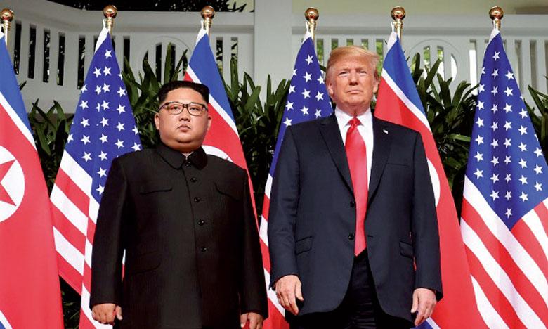 Trump et Kim optimistes  à l'ouverture de leur 2e sommet