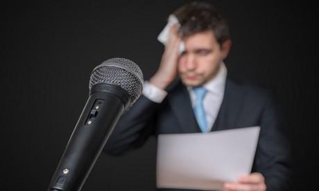 En milieu professionnel, on peut citer à titre d'exemple, la peur de parler en public.  ph: shutterstock