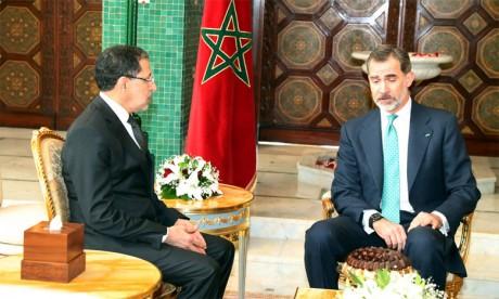 Sa Majesté le Roi Don Felipe VI d'Espagne  reçoit le Chef du gouvernement