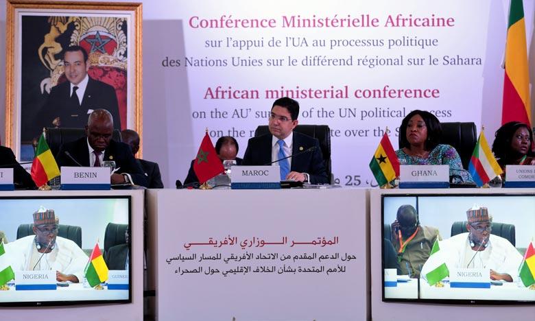37 Etats africains ont participé à la conférence ministérielle de Marrakech sur l'appui de l'UA au processus politique des Nations-Unies sur le différend régional au sujet du Sahara marocain. Ph. MAP