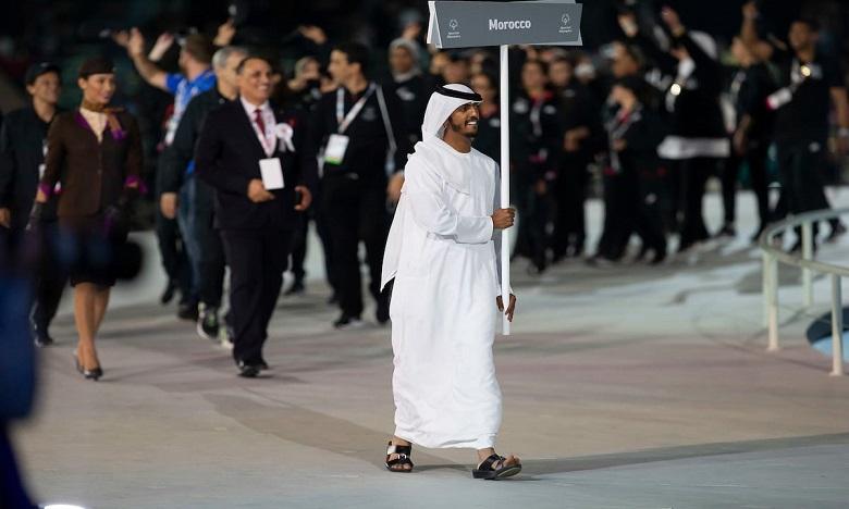 Début des Jeux mondiaux 2019 de Special Olympics en présence de Charifa Lalla Soumia El Ouazzani, présidente de SOM