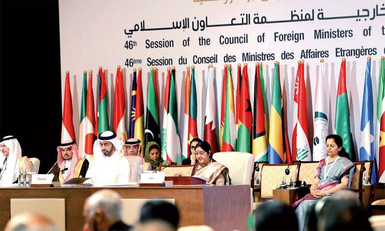 Les ministres des Affaires étrangères de l'OCI louent les efforts  de S.M. le Roi pour la défense des Lieux saints de l'Islam à Al-Qods Acharif