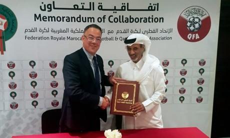Football :   Les Fédérations marocaine et qatarie s'accordent