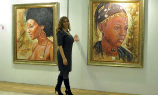 La réalité de la femme africaine  dans la palette d'Asmaa Rochdi