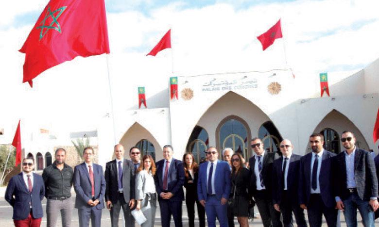 Les membres du Cercle Eugène Delacroix en visite à Laâyoune.