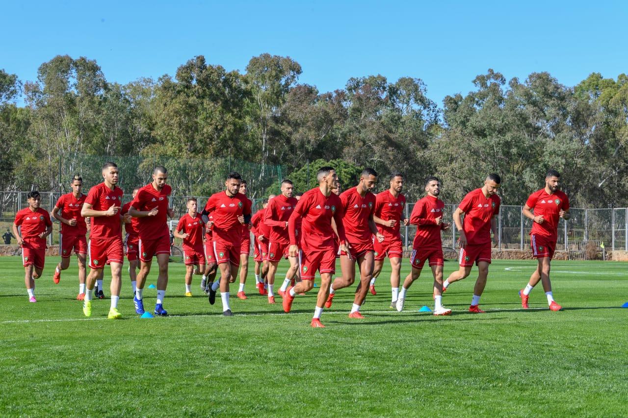 Premiers entraînements des Lions de l'Atlas en 2019