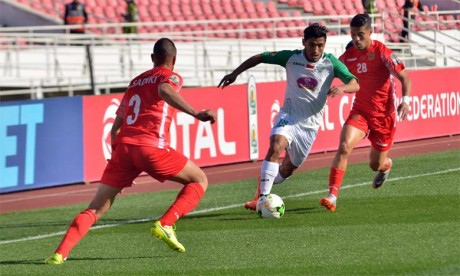 Abdelilah Hafidi et compagnie n'ont pas pu trouver la faille face au HUSA, meilleure défense de la Botola D1 cette saison.