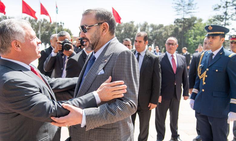 Le Roi Abdallah II de Jordanie quitte le Maroc au terme d'une visite d'amitié et de travail