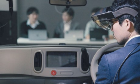Nissan teste la technologie Invisible-to-Visible