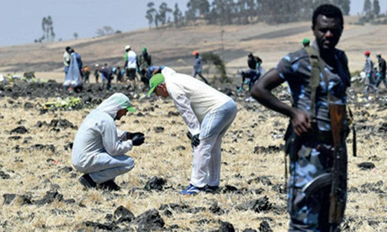 Les boites noires ont été endommagées pendant l'accident, le Boeing d'Ethiopian Airlines ayant été pulvérisé à l'impact.    Ph. AFP