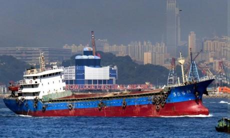Collision entre un pétrolier et un bateau de pêche à Hong Kong