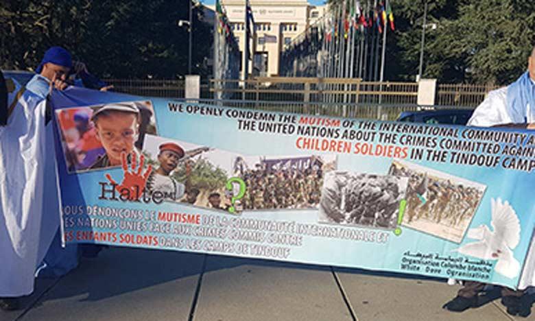 Sit-in à Genève pour dénoncer les crimes commis par le polisario dans les camps  de Tindouf