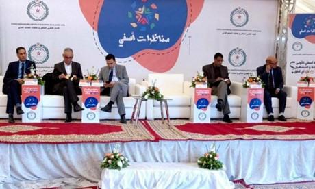 1ère Conférence de Safi, initiée par l'Union marocaine des conseils et associations de la société civile, sur «L'emploi et l'entreprise, quelles perspectives ?» Ph : MAP