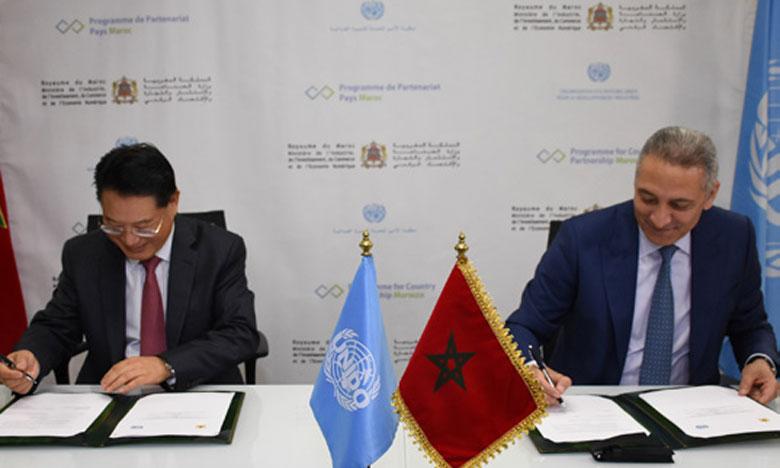 «Le PCP place le développement industriel inclusif et durable au cœur de ses priorités. Le cadre de partenariat novateur lancé avec l'ONUDI participera assurément à la réalisation des ambitions industrielles du Maroc», déclare, Moulay Hafid Elalamy, ministre de l'Industrie. Ph. Kartouch