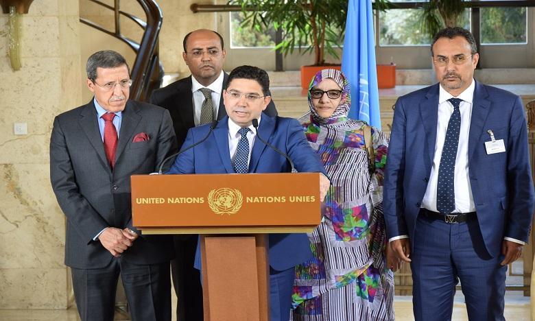 M. Bourita a rappelé que le Maroc s'est engagé dans ce processus pour parvenir à une solution sur la base du paragraphe 2 de la résolution 2440. Ph. MAP