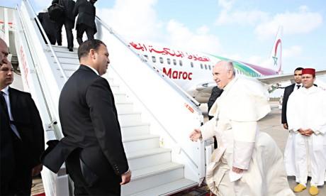 Sa Sainteté le Pape François quitte le Maroc au terme  d'une visite officielle