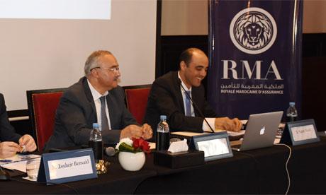 Les résultats 2018 de RMA Assurance ont été présentés hier par Zouheir Bensaid, PDG de RMA (centre). Ph. Seddik
