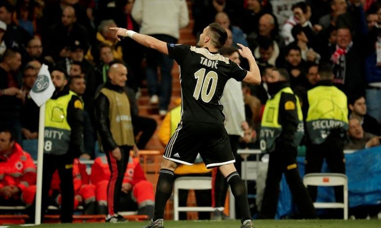 Le Serbe Dusan Tadic a été l'homme du match du 8e de finale retour de Ligue des champions entre le Real Madrid et l'Ajax (1-4). Ph : AFP