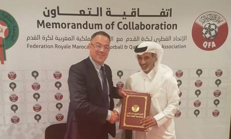 La FRMF et la fédération du Qatar liées  par un accord de coopération