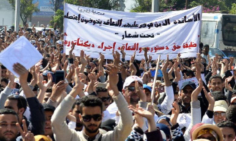 Le conseil de la Coordination nationale des enseignants contractuels a pris la décision de poursuivre la grève décrétée depuis plus d'une semaine dans le secteur.Ph. Saouri