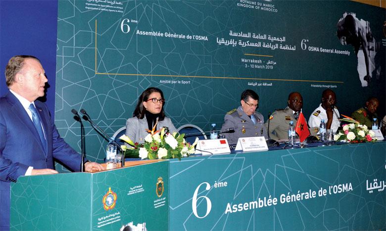 La sixième Assemblée générale  de l'Organisation des sports militaires  en Afrique ouvre ses travaux à Marrakech