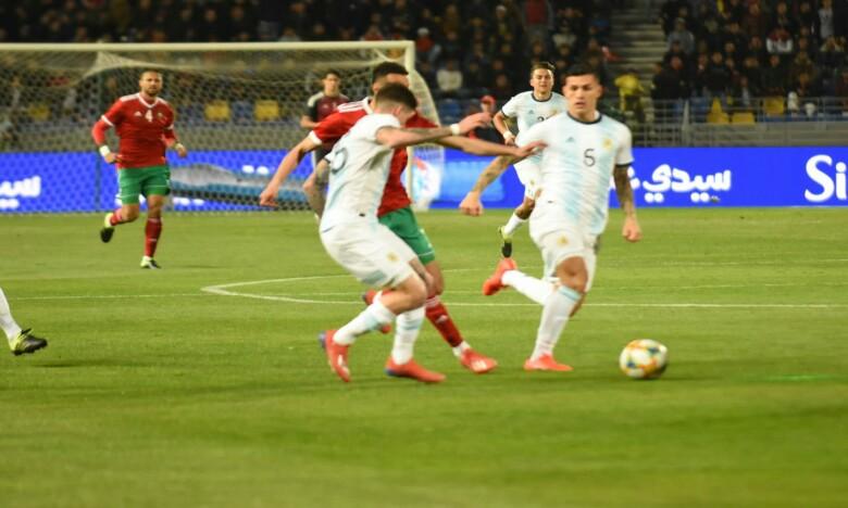 Match nul 0-0 entre le Maroc et l'Argentine à la mi-temps