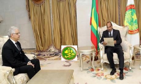Nizar Baraka remet un message écrit de S.M. le Roi au Président mauritanien