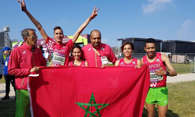 La sélection marocaine de cross-country a terminé en deuxième position en bouclant la distance en 26 min 22 s.