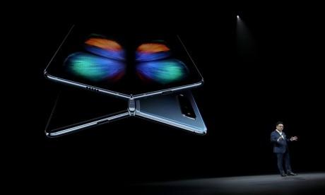 Le nouveau smartphone Samsung Galaxy Fold a été lancé le 20 février dernier San Francisco, aux Etats-Unis. Ph. AFP