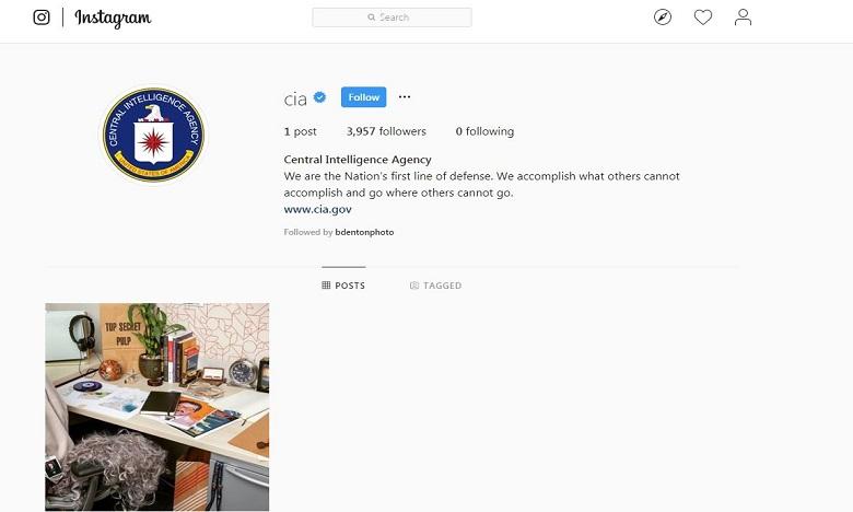 La CIA a désormais son compte Instagram !