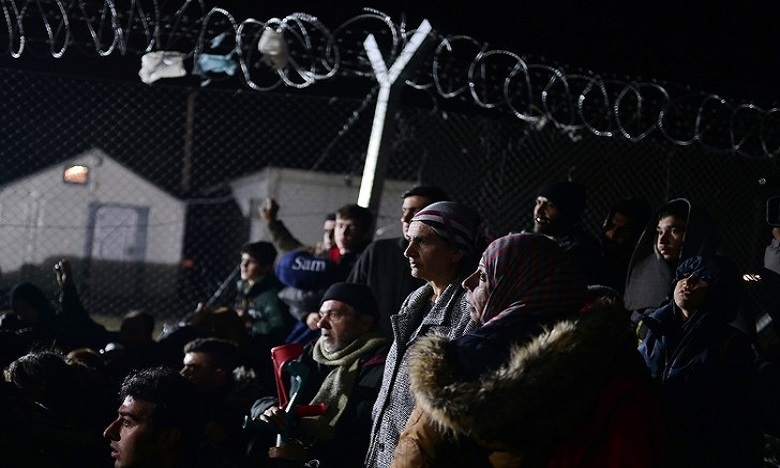 Athènes: Des migrants manifestent pour l'ouverture de la frontière gréco-macédonienne