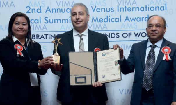 Dr Faissal Tarrass a reçu le prix Venus International Medical Award à Chennai en Inde.