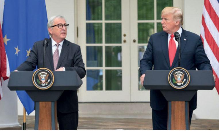 Le mandat de négociation sera officiellement  accordé lundi prochain à la Commission européenne qui représentera les 28 avec Washington.              Ph. AFP
