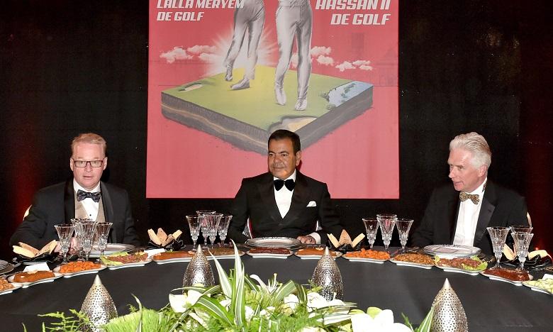 S.A.R. le Prince Moulay Rachid préside un dîner offert par S.M. le Roi en l'honneur des invités du Trophée Hassan II de golf et de la Coupe Lalla Meryem