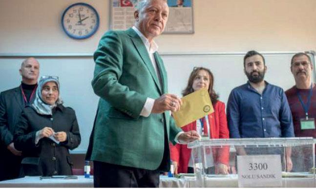 M. Erdogan a remporté les élections municipales à l'échelle nationale, mais a essuyé un revers à Istanbul et Ankara.                             Ph. AFP