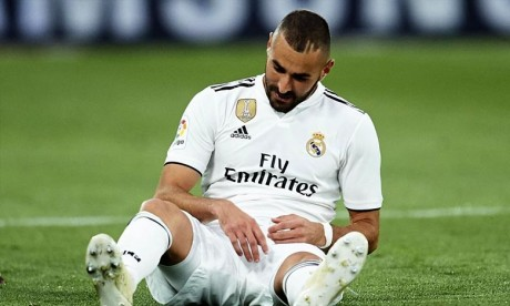 Benzema souffre d'une blessure musculaire