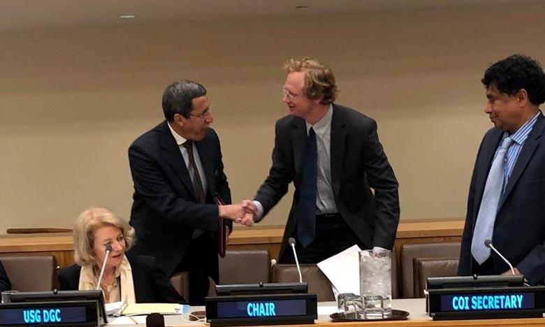 Omar Hilale a souligné que la diffusion et la médiatisation des activités de l'Organisation des Nations unies est «de la plus haute importance, aujourd'hui plus qu'hier». Ph : DR