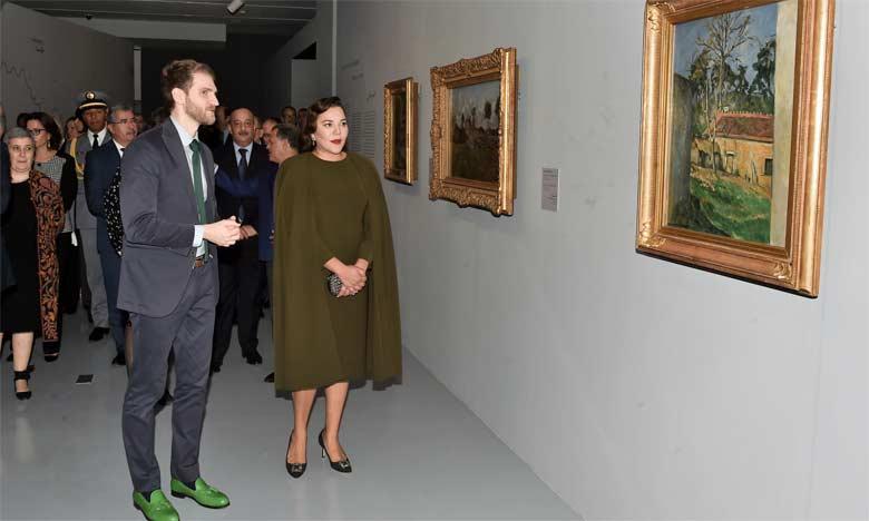 S.A.R. la Princesse Lalla Hasnaa préside à Rabat l'inauguration de l'exposition «Les couleurs de l'impressionnisme : chefs-d'oeuvre des collections du Musée d'Orsay»