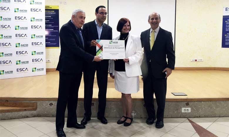 Le Matin - ESCA École de Management reçoit son certificat d'accréditation AACSB