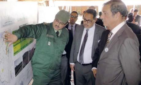 Le Haut Commissariat aux eaux et forêts et à la lutte contre la désertification (au 1er plan) s'est rendu à la pépinière de Machraa Ben Abou à Settat et au Projet d'aménagement récréatif et de la forêt de Bouskoura. Ph. DR