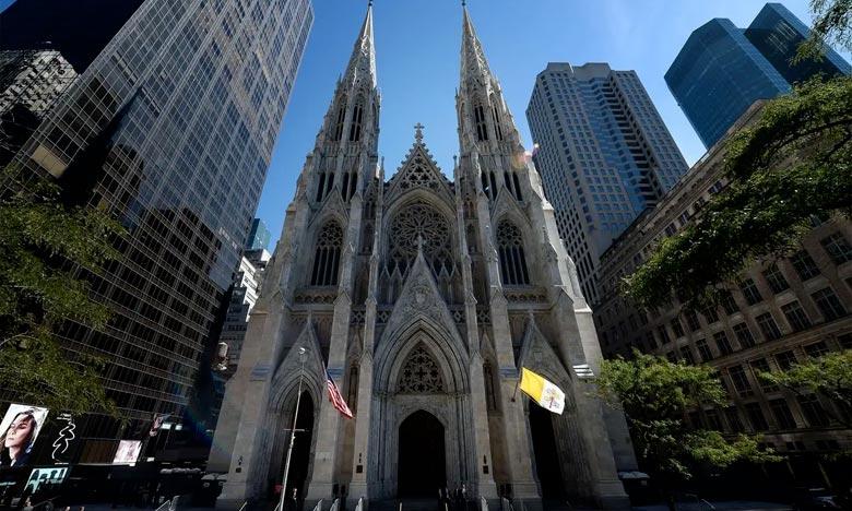 L'homme arrêté a affirmé avoir pris un raccourci par la cathédrale après que sa voiture fut tombée en panne d'essence. Ph.  AFP