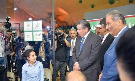 L'espace dédié à l'entrepreneuriat, à la digitalisation et à l'éducation financière est animé par le Crédit Agricole du Maroc dont la participation au SIAM est articulée autour de l'agriculture, levier d'emploi dans le monde rural. Ph. Sradni